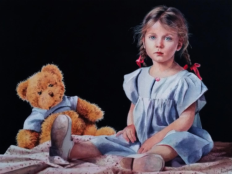 viola e il suo orsetto